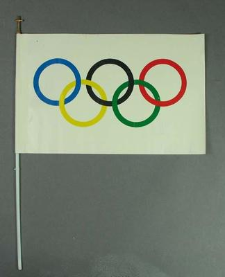 Souvenir Olympics flag, 1996 Olympic Torch Relay