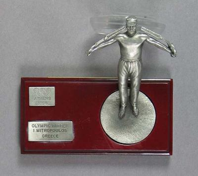 Trophy, figurine of 1896 Olympic winner Ioannis Mitropoulos