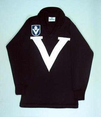 Victorian representative football guernsey, c1987