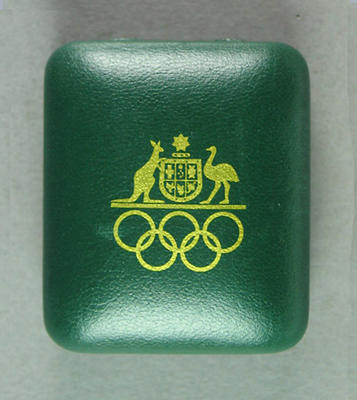 Presentation case for lapel pin, Games of the XXVII Olympiad 1 Year to Go