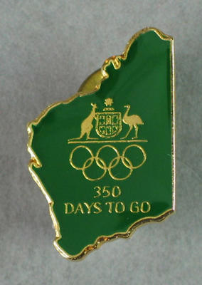 Lapel pin, Games of the XXVII Olympiad 350 Days to Go