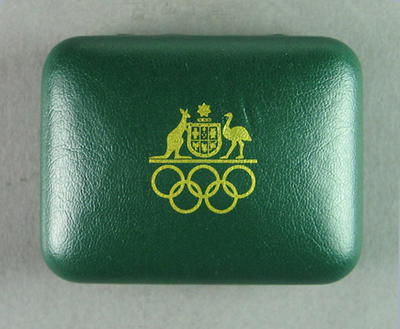 Presentation case for lapel pin, Games of the XXVII Olympiad 350 Days to Go