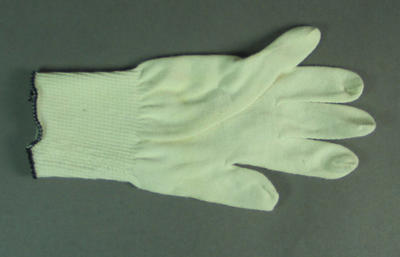 White glove worn by Shirley Strickland whilst carrying Olympic flag, Sydney 2000