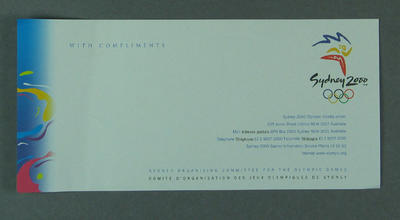Compliments slip, 2000 Sydney Olympic Games