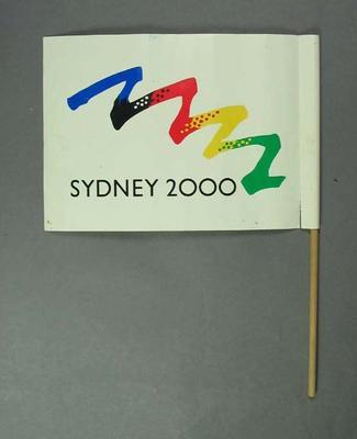 Miniature flag, Sydney 2000 Olympic Bid