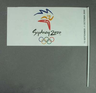 Miniature flag, Sydney 2000 Olympic & Paralympic Games