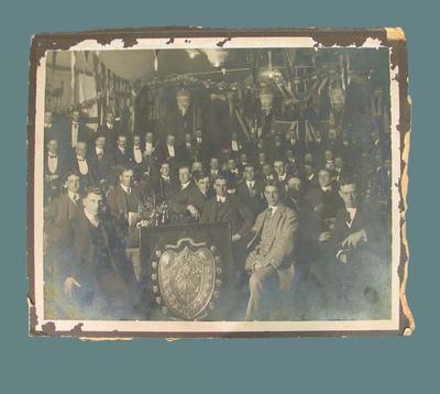 Photograph of Essendon lacrosse team at presentation night, early twentieth century; Photography; 1987.1857.2