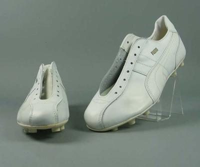 Pair of Puma umpire's football boots