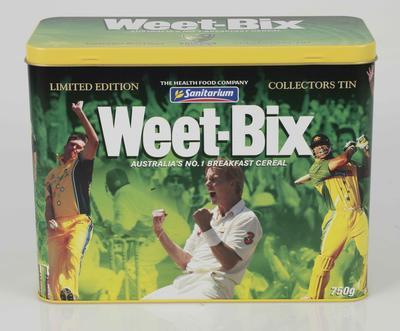 Weet-Bix tin, Australian cricket team design - 2004