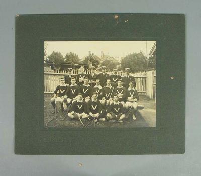 Photograph of Victorian lacrosse team, Sydney 1920