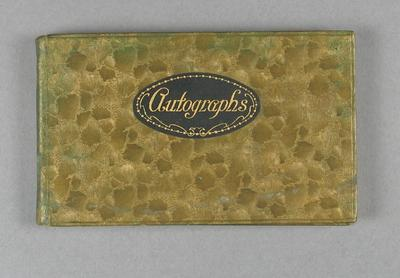 Autograph book, used c1933-37