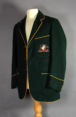 Blazer worn by Jack Ryder, 1921 Australian XI team tour to England