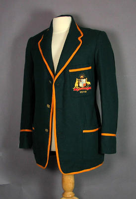 Australia XI team blazer 1957/58 worn by cricketer Ian Meckiff