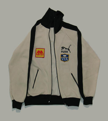 Tracksuit top, worn by VFA umpire c1984