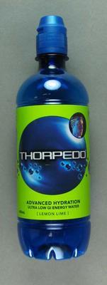 "Plastic bottle, ""Thorpedo"" sports drink c2005"
