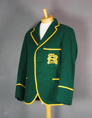 Blazer worn by Clarrie Grimmett, 1928 Australian XI Tour of New Zealand