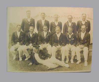 Photograph of Australian Cricket Team, Canada & USA tour 1932