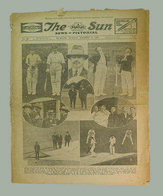 Newspaper - 'The Sun News Pictorial' dated Saturday November 22 1924; Documents and books; M3121