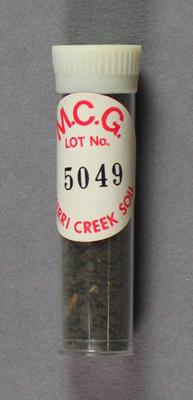 Soil sample, MCG Merri Creek Soil