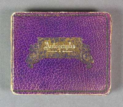 Autograph book, contains signatures of various cricketers c1931-33