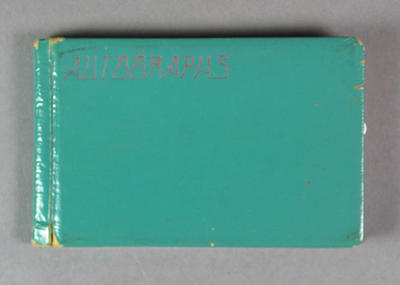 Autograph book, contains signatures of various cricketers c1936