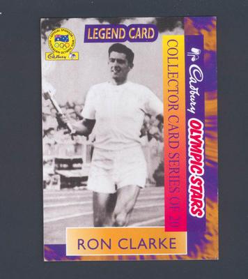 1996 Cadbury Olympic Stars Ron Clarke trade card