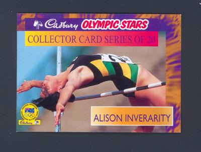 1996 Cadbury Olympic Stars Alison Inverarity trade card