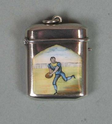 Vesta case, featuring image of George Coulthard c1880s