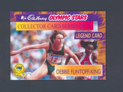 1996 Cadbury Olympic Stars Debbie Flintoff-King trade card