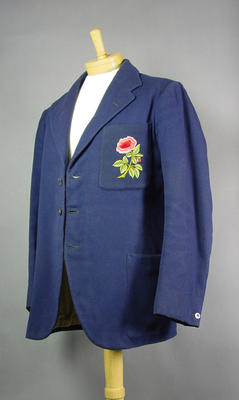 Lancashire County Cricket Club blazer, worn by William Horrocks c1931; Clothing or accessories; M5768