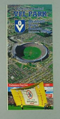 Brochure - VFL Park Members' News Bulletin November 1986