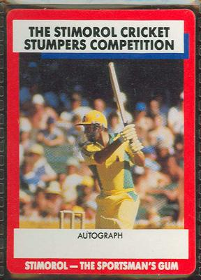 1990 Stimorol Cricket Stumpers Competition Doug Walters trade card; Documents and books; M13154.12