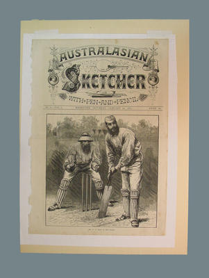 """Cover of """"AUSTRALASIAN/ SKETCHER/ WITH PEN AND PENCIL"""" magazine,  January 24 1874"""