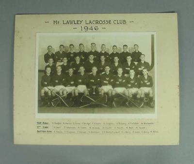 Photograph of Mt Lawley Lacrosse Club, 1946