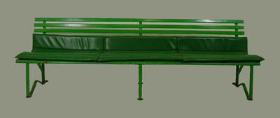 Bench seat, used in Australian Gallery of Sport & Olympic Museum theatrette