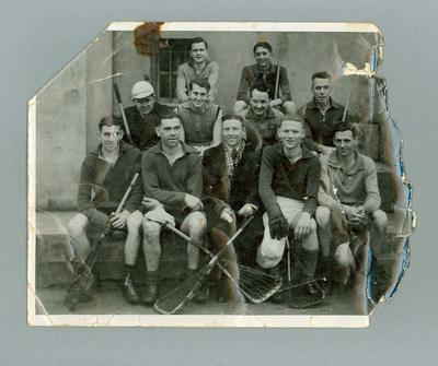 Photograph of Preston Lacrosse Club members, date unknown