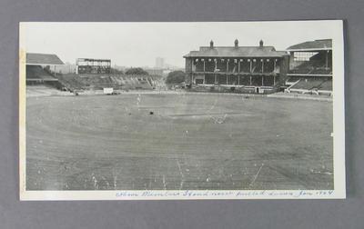 Photograph of Concrete Stand demolition at Melbourne Cricket Ground, Jan 1964