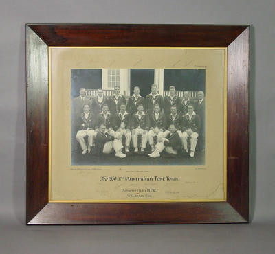 Photograph of 1930 Australian cricket team; Photography; Framed; M266