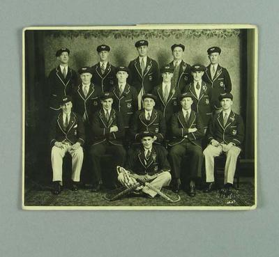 Photograph of Victorian lacrosse team, 1934