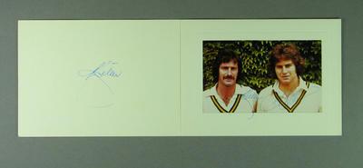 Autographed photograph, Dennis Lillee & Terry Alderman; Photography; M13331
