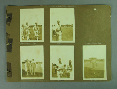 Photographs of English cricket team during Second Test match, MCG - Jan 1925
