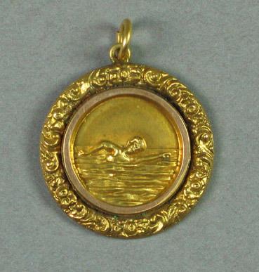 Medal won by R C Esler, Ivanhoe Swimming Club junior handicap diving champion - 1919