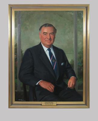 Portrait of John Mitchell, artist Paul Fitzgerald