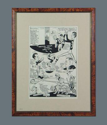Cartoon depicting St Kilda FC players c1950s, by Wells