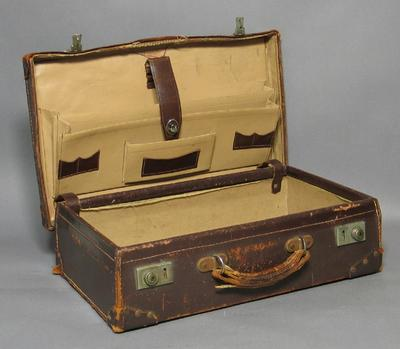Brown leather briefcase, used by Judge William H Moule; Personal effects; M10250