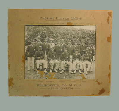 Black and white photograph of English Eleven 1903-04; Photography; M4575