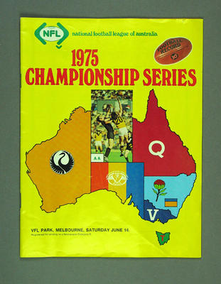 "Magazine, ""National Football League of Australia 1975 Championship Series"""