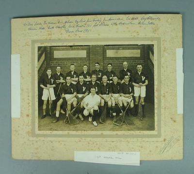 Photograph of Victorian Lacrosse team, 1927