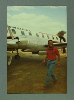 Desmond Hayes - West Indies Cricket Team leaving Echuca 19 December 1984