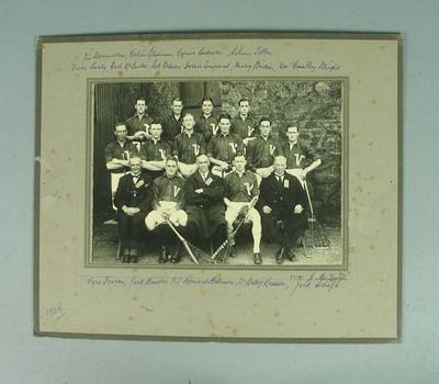 Photograph of Victorian Lacrosse team, 1924